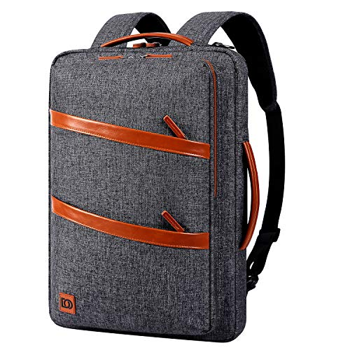 DOMISO Laptop Backpack Business 17.3 Inch Multifunction Notebook Backpack Waterproof Laptop Bag Briefcase Travel Backpack Shoulder Bag for Men Women Teens Dark Grey