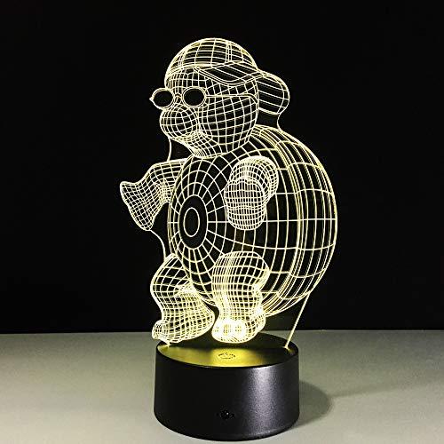 3D Turtle Abstrakte Kreative Modell Design Acryl Nachtlicht 7 Farbe Licht Touch Control Energiesparende Schreibtischlampe Usb Led Dekoration Weihnachtsgeschenk Nachtlicht