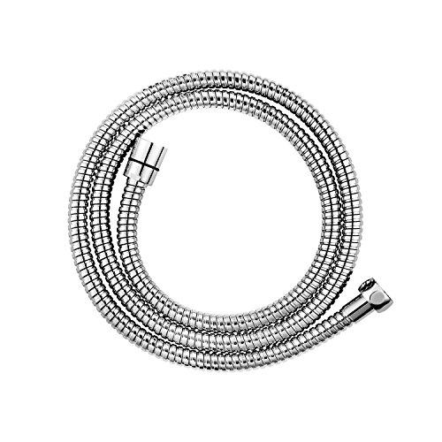 CLOFY Hochwertiger Brauseschlauch Duschschlauch 1,5m lange Edelstahl Metaflex Doppel-Lock 1/2, Chrom