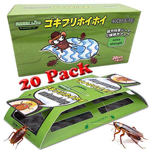Dekugaa Cockroach Traps with Bait, 20 Pack Roach Motels,Sticky Traps,Glue Traps for Roach Bugs Spiders Crickets Beetles