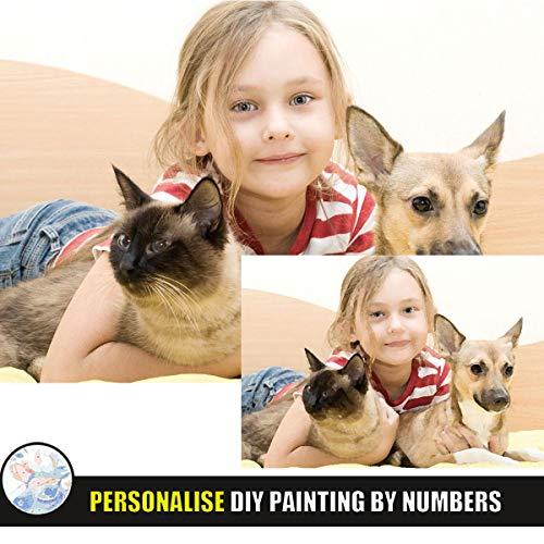 Pintar por Numeros Adultos Personalizado Foto, Pintar por Nu