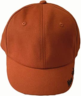 YAKADLY Men's and Women's Caps Casual Wild Couple Street Embroidery Visor Baseball Cap 5 (Color : Orange)