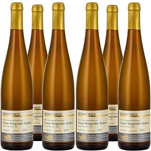 Weingut Mees GRAUBURGUNDER EDELSÜß SÜß AUSLESE 2016 KREUZNACHER ROSENBERG Prämiert Weißwein Wein süss Deutschland Nahe Paket (6 x 750 ml) 100% Grauer Burgunder