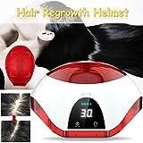 MZBZYU Laser Terapia Pelo Crecimiento Casco Dispositivo, Sistema de Cascos y Cascos para el Crecimiento del Cabello- 98% de Tasa Germinal 100-240 V (Rojo)