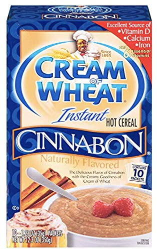 Cream of Wheat, Cinnabon Flavored, 10ct Box, 12.3oz (Pack of 3)