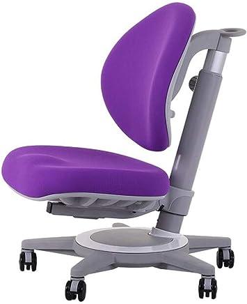 子供用書斎チェア, 子供用ホームオフィスチェア, 高品質調整可能チェア, 回転コンピュータチェアオレンジパープル,Purple