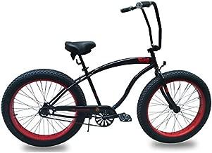 Micargi Slugo A Series Fat Tire 4.0 Beach Cruiser Bike, Chopper Style