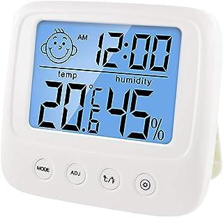 hkwshop Higrómetro para Interior Digital LCD Indoor Conveniente Temperatura Sensor Medidor de Humedad Termómetro Medidor d...