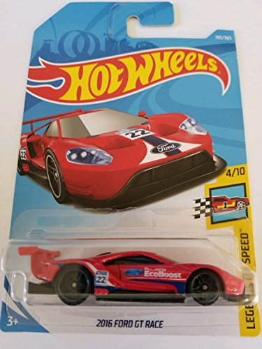 Hot Wheels 2018 50th Anniversary Legends of Speed 2016 Ford GT Race 195/365, Red