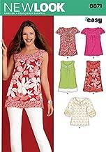 New Look Ladies Easy Sewing Pattern 6871 Summer Tops & Blouses