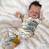 Reborn Baby Doll 18 Pulgadas / 46cm Muñeca de Dormir Silicone Vinyl Soft Realista Bebé,Boy