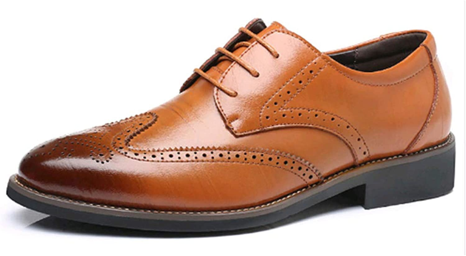 Formal Men Dress shoes Genuine Leather Classic Brogue shoes Flats Oxfords for Wedding Office Business shoes