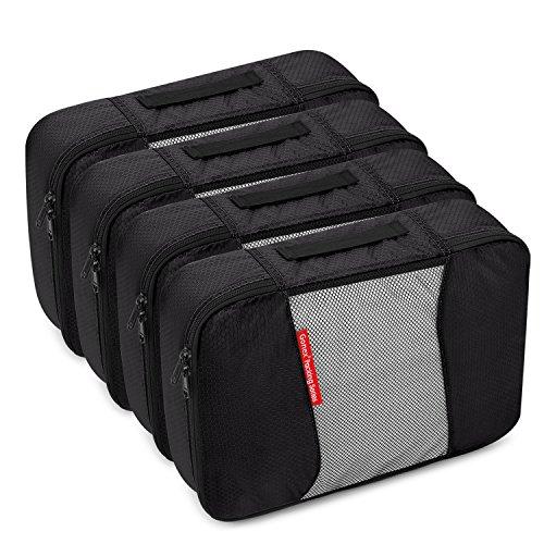 Gonex Sacs à bagages (6 unités) Peut être utilisé comme sac à vêtements (4 Medium) (4 Medium) Noir