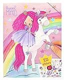 Depesche- Libro para Colorear con Pegatinas, Princess Mimi, Aprox. 31 x 24 x 0,5 cm, Color carbón (10870)