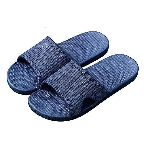 XZDNYDHGX Interiores Uso Al Aire Libre BañO Sandalia Azul Marino, Sandalias de Ducha para Mujer, Zapatillas de Interior Resistentes al Desgaste, Amantes del Hotel, Suela Blanda, UE 41-42