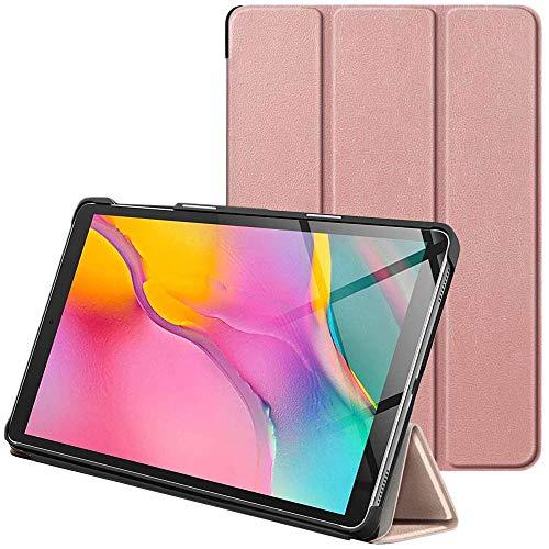 ebestStar - Cover Compatibile con Samsung Galaxy Tab A 10.1 2019 T515 Custodia Protezione Slim Smart Case Pelle PU Sottile con Funzione Supporto, Rosa Dorato [Tab: 245 x 149 x 7.5mm, 10.1'']