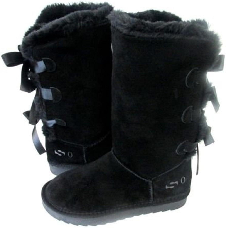 Så Brand Brand Brand ny kvinnor Classic Three Bows Boot svart 4562 Original  ej att förglömma!
