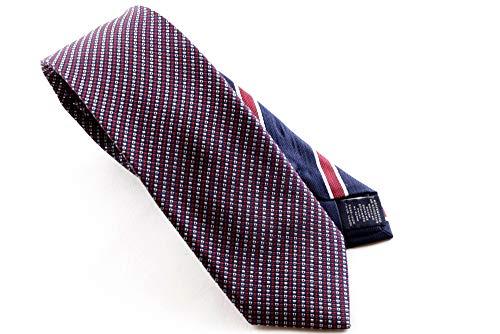 Tommy Hilfiger Herren Krawatte Schlips SILK MICRO DESIGN 7CM (Rot, 625)