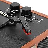 Tocadiscos, Tocadiscos de Vinilo, Caja de Madera, diseño de Caja de Madera, reproducción USB de 3 velocidades para Registro de 18/20/30 cm(Transl)