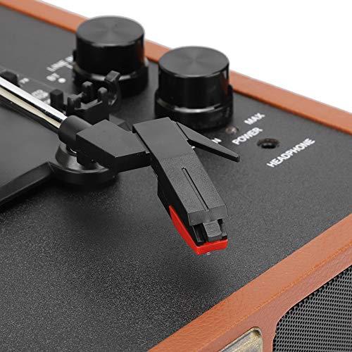 Gedourain Tocadiscos de Vinilo Material ABS Jukebox, para reproducción de Bluetooth de Soporte marrón de Registro de 18/20/30 cm(Transl)