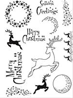 Christmas deer Transparent Clear Silicone Stamp Seal DIY Scrapbooking photo Album Decorative A0840