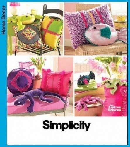 Simplicity einfach Teen Kissen und Sitzsack Tiere Schnittmuster#3953