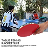 Ballylelly-DOPPELFISCH Outdoor Indoor Sport Tischtennisschläger mit Ping-Pong Balls Tragbare Durable