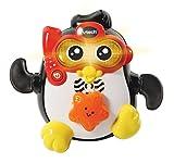 VTech- Chapoteos Frank, Juguete baño bebé, Animal Nadador Interactivo con Voz y luz, Sumergible y con más de 30 melodías, Canciones y Frases (3480-501722)