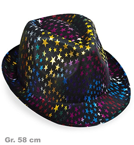 FRIES 38633 Chapeau Trilby Party-Chic Stars, multicolore, taille
