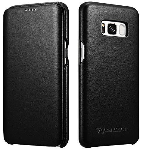 Gutentasch Tasche LederBook für Samsung Galaxy S9, S9+ (Galaxy S8+, Schwarz)