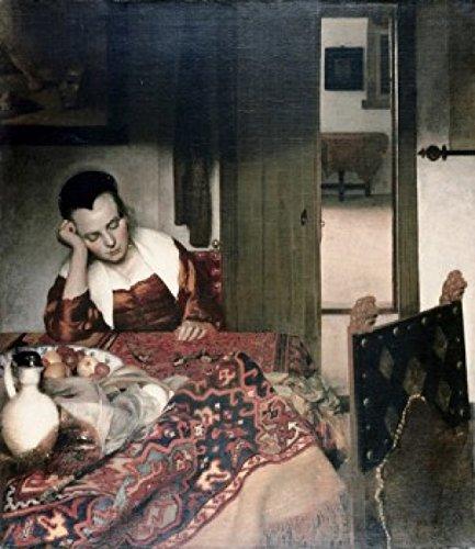 Jan Vermeer – Girl Asleep at a Table Jan Vermeer (1632-1675 Dutch) Oil on Canvas Poster Drucken (60,96 x 91,44 cm)