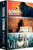 Coffret 3 films : godzilla ; kong ; tarzan