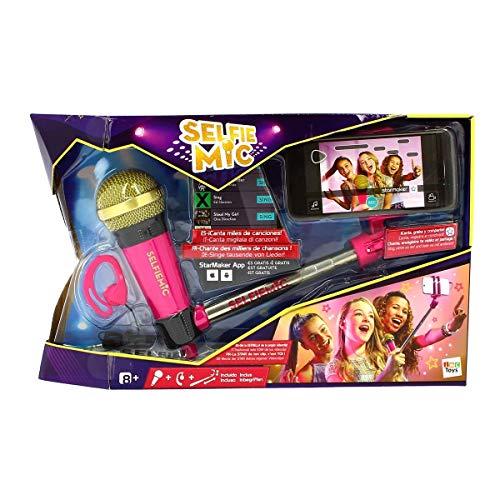 IMC Toys 95250IM - Selfie Mic, Selfie Stick Mikrofon, pink
