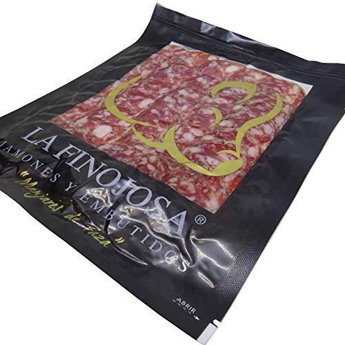 Salchichón Ibérico Bellota La Finojosa(Los Pedroches) Loncheado y envasado al vacío. Lote 10 paquetes de 100 gramos/ud.