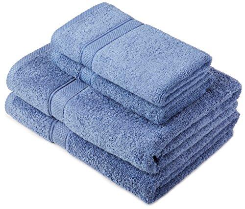 Pinzon by Amazon - Juego de toallas de algodón egipcio (2 toallas de baño y 2 toallas de manos),...