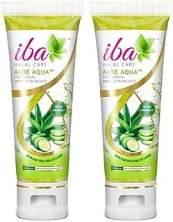 2 Pack X Iba Halal Care Aloe Aqua Face Wash Makeup Remover, 100ml