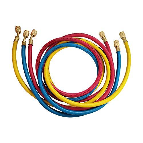 Wisepick AC Aufladen Schläuche Tube für R410 A R134 A R12 R22 KLIMAANLAGE Kältemittel 1/4' Gewinde Schlauch 5 ft.