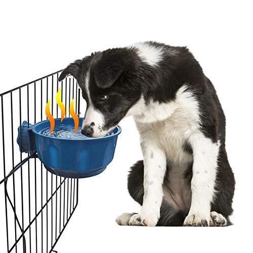 ningxiao586 Beheizte Hundenapf, Thermo-Napf Beheizte Katzen- / Hundenapf Beheizte Hundenapf Automatische Wassertemperatur Futtertrog Material Sicherer Winter Im Freien Wassernapf für Hund Katze