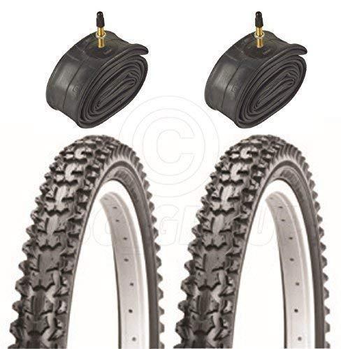 Vancom 2 Bicycle Tyres Bike Tires - Mountain Bike - 26 x 1.95 - With Presta Tubes