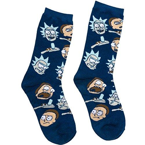 Rick and Morty Socks Adult Mens Size 6-12 Adult Swim Hypnotic