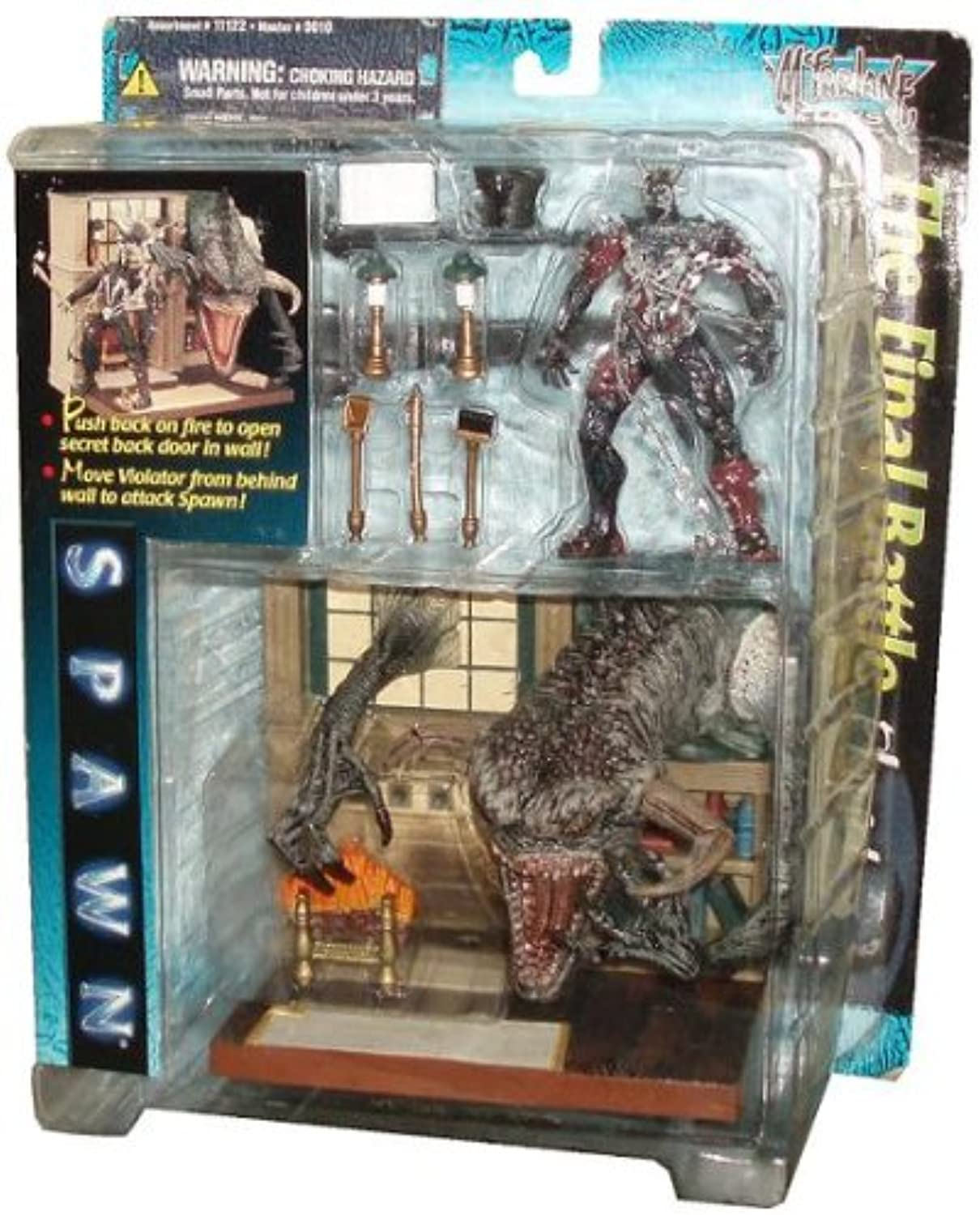 McFarlane Spawn the Movie Year 1997 Playset  The Final Battle Playset with Spawn Figure and purpletor on the Background Stage