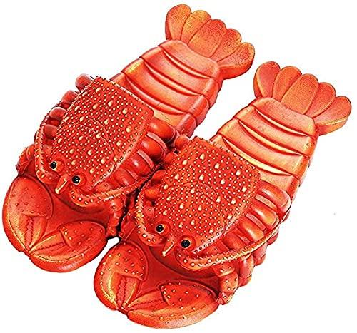 Nikgic. Flusskrebs Hausschuhe Lustige Hausschuhe Lässige Hausschuhe für Zuhause Lustige Geschenke wasserdichte Schuhe Damen Flip Flops Pool Strand Leichte Eltern Kind Paar Schuhe (Rot, 40-41)