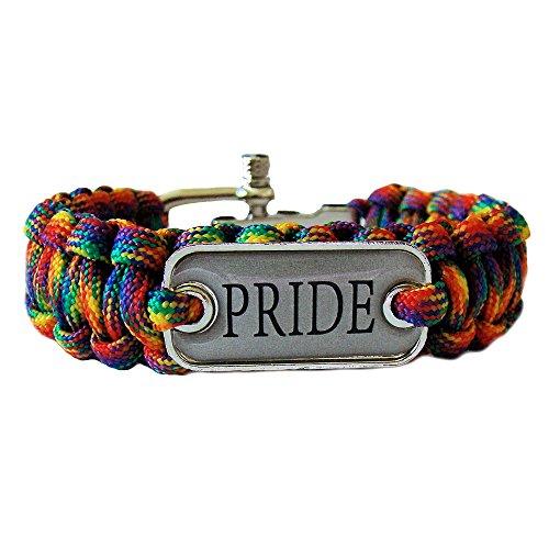 Gay Rainbow Sisters Gay Pride Paracord Bracelet Pride