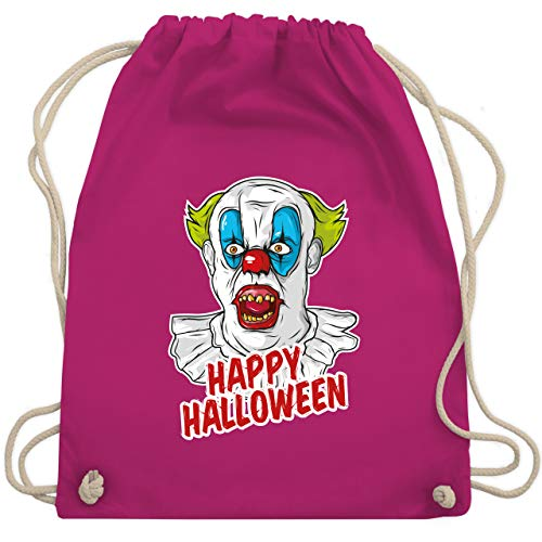 Shirtracer Halloween - Happy Halloween - Clown - Unisize - Fuchsia - halloween clown - WM110 - Turnbeutel und Stoffbeutel aus Baumwolle