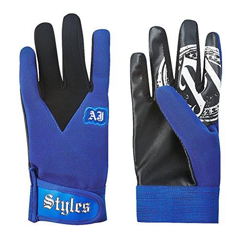 Guantes de lucha libre de Aj Styles, de color azul