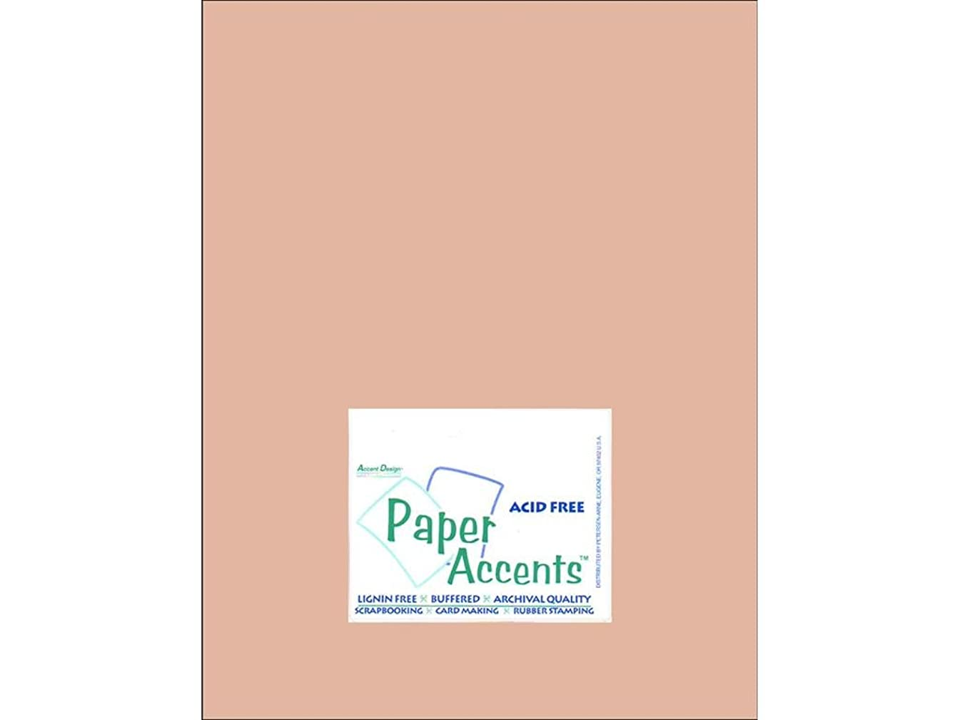 Accent Design Paper Accents Cdstk Muslin 8.5x11 74# Iced Cocoa