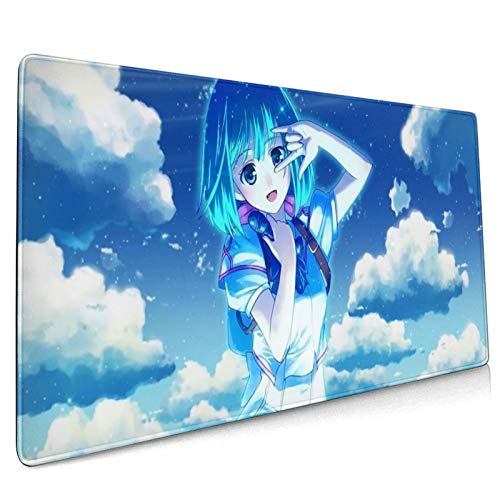 Anime Macross Frontier Large Gaming Mouse Pad, with Stitched Edges Non-Slip Water-Resistant Desk Mat, for Game Players, Office, Study