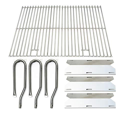 Direct store Parts Kit DG131 Replacement for Jenn Air Gas Grill 720-0336 (Stainless Steel Burner + Stainless Steel Heat Plate + Solid Stainless Steel Cooking Grid)