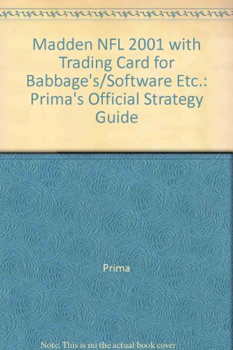 Madden NFL 2001 with Trading Card for Babbage's/Software Etc.: Prima's Official Strategy Guide