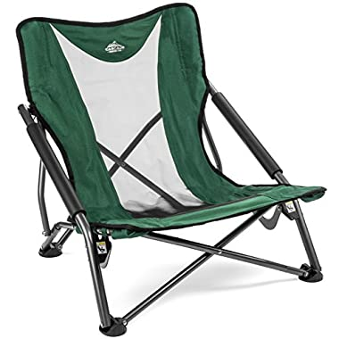 Cascade Mountain Tech Compact Low Profile Outdoor Folding Camp Chair Carry Case - Green